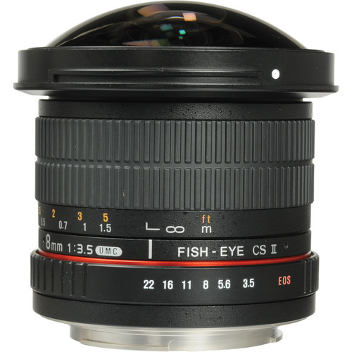 SAMYANG 8mm f/3.5 Fish-eye CS II Canon