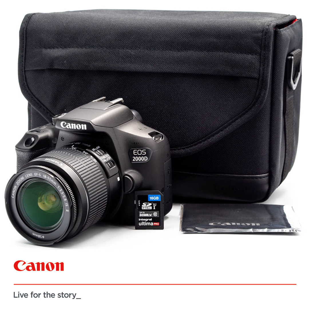 CANON EOS 2000D + 18-55mm f/3.5-5.6 IS II - Travel KIT