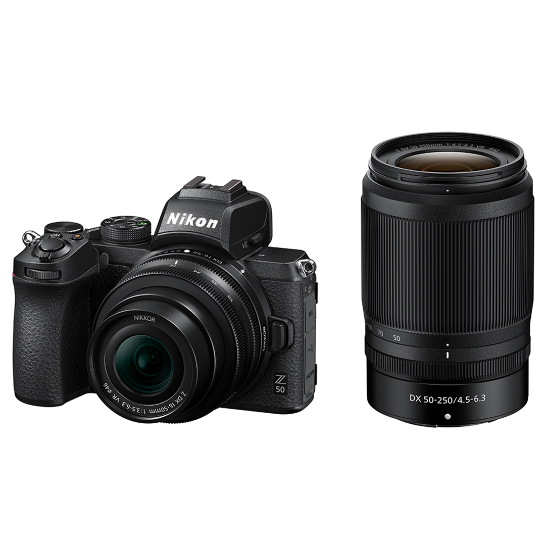 Nikon Z50 + NIKKOR Z DX 16-50mm f/3.5-6.3 VR + NIKKOR Z DX 50–250mm f/4.5–6.3 VR