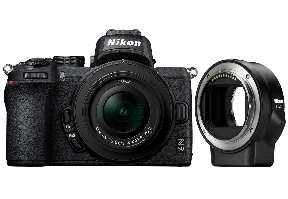 Nikon Z50 + NIKKOR Z DX 16-50mm f/3.5-6.3 VR + FTZ-Adapter